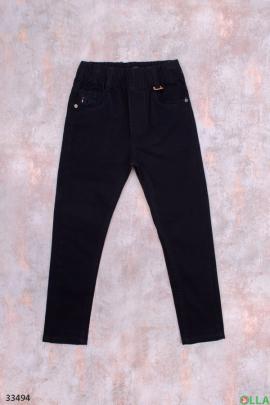Чёрные брюки для мальчика