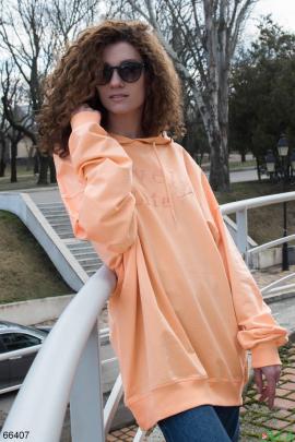 Женское оранжевое худи с надписью