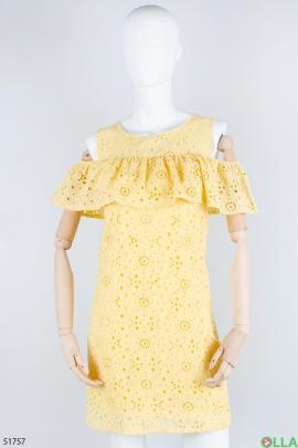 Женский жёлтый сарафан