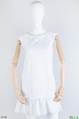 Женский белый сарафан