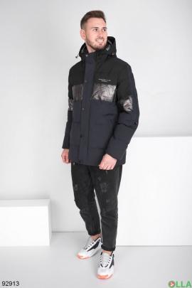 Мужская зимняя сине-черная куртка