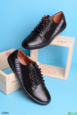 Черные кеды на шнуровке