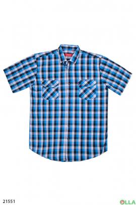 Мужская рубашка в клеточку