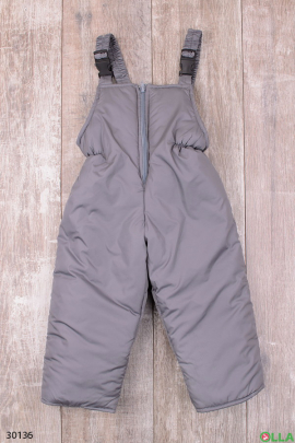 Штаны-дутыши серого цвета