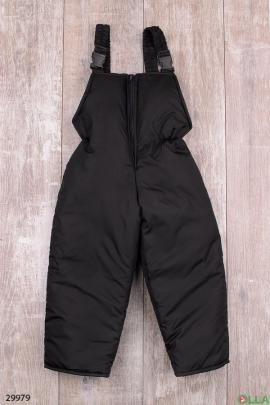 Штаны-дутыши черного цвета