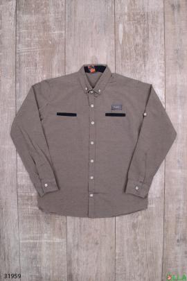 Рубашка серого цвета