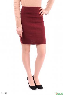 Юбка-мини бордового цвета