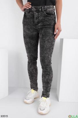 Женские серые джинсы