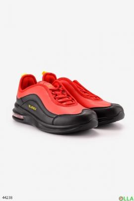 Мужские черно-красные кроссовки