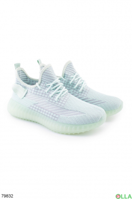 Женские зеленые кроссовки из текстиля