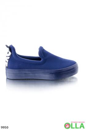 Слипоны синие