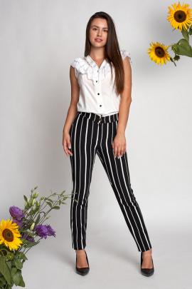 Блуза с кружевом и рюшами