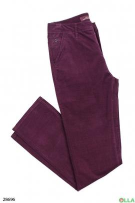 Мужские фиолетовые джинсы