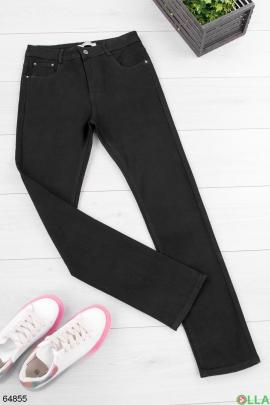 Женские черные джинсы