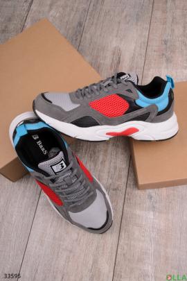 Мужские разноцветные спортивные кроссовки