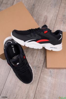 Мужские черные спортивные кроссовки