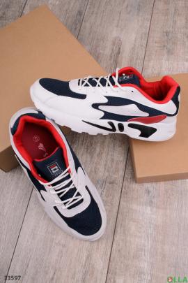 Сине-белые спортивные кроссовки
