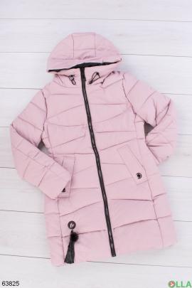 Женская розовая зимняя куртка