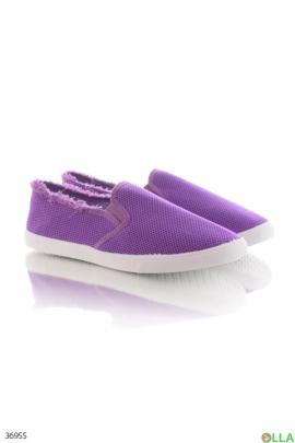 Женские фиолетовые кеды
