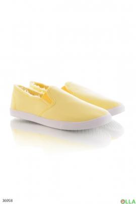 Женские желтые кеды