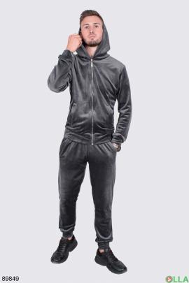 Мужской спортивный костюм из велюра