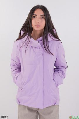 Женская лиловая куртка