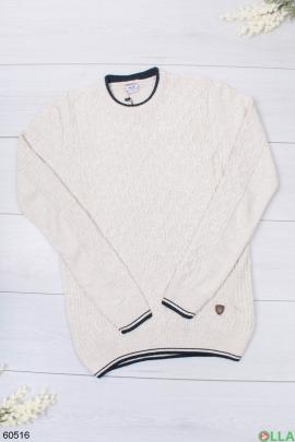 Мужской бежевый свитер