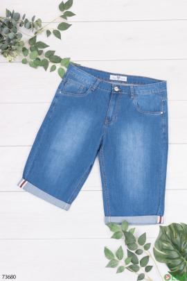 Мужские синие джинсовые шорты