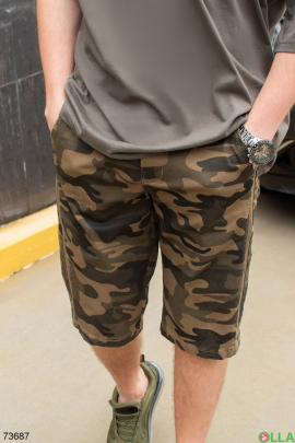 Мужские камуфляжные шорты цвета хаки