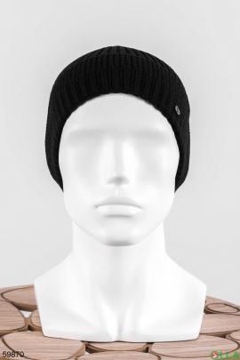 Мужская черная шапка