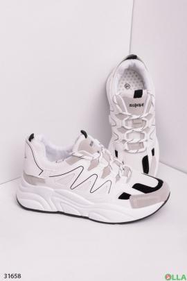 Кроссовки черные с белым