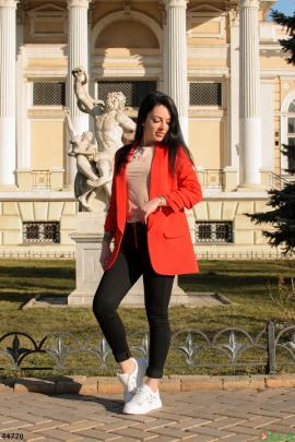 Женский Красный пиджак