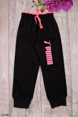 Спортивные штаны черного цвета