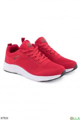 Мужские красные кроссовки из текстиля