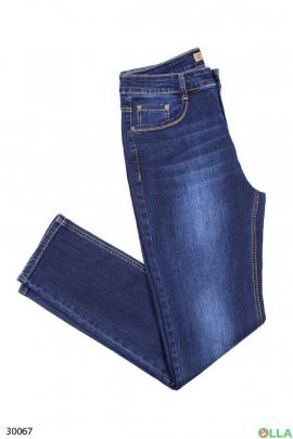 Женские джинсы синего цвета