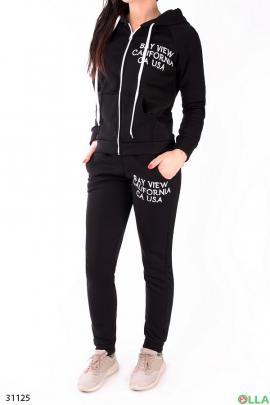 Черный спортивный костюм на флисе