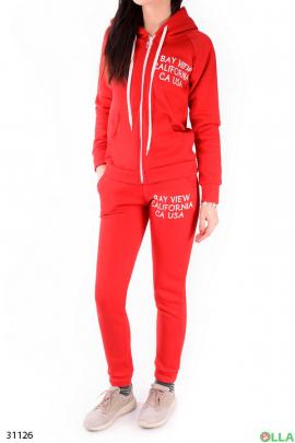 Красный спортивный костюм на флисе
