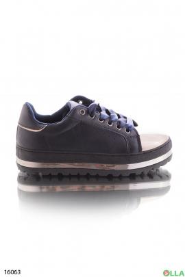 Кроссовки на липучке и шнуровке