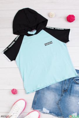Женская бирюзовая футболка