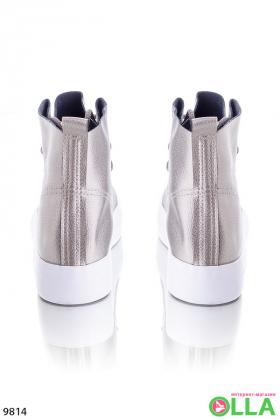 Кеды высокие на шнуровке