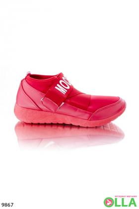 Кроссовки Mocshino красные