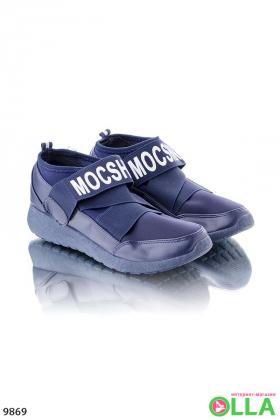 Кроссовки Mocshino синие