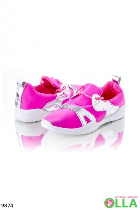 Кроссовки розовые без шнуровки