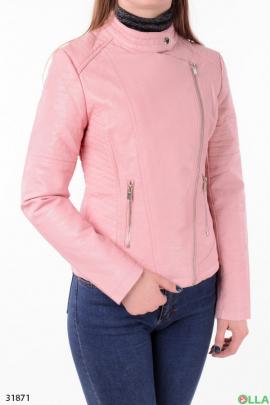 Женская косуха розового цвета