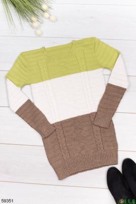 Женский Разноцветный свитер