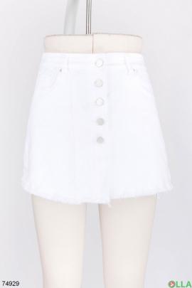 Женская джинсовая юбка-шорты