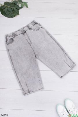 Женские джинсовые серые капри