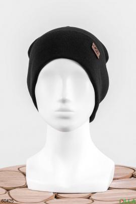 Женская черная шапка
