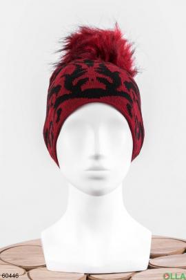 Женская шапка в принт