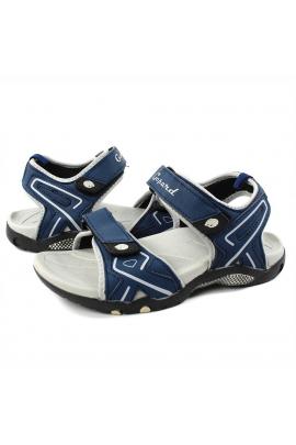 Босоножки спортивные для мальчика серо-синий